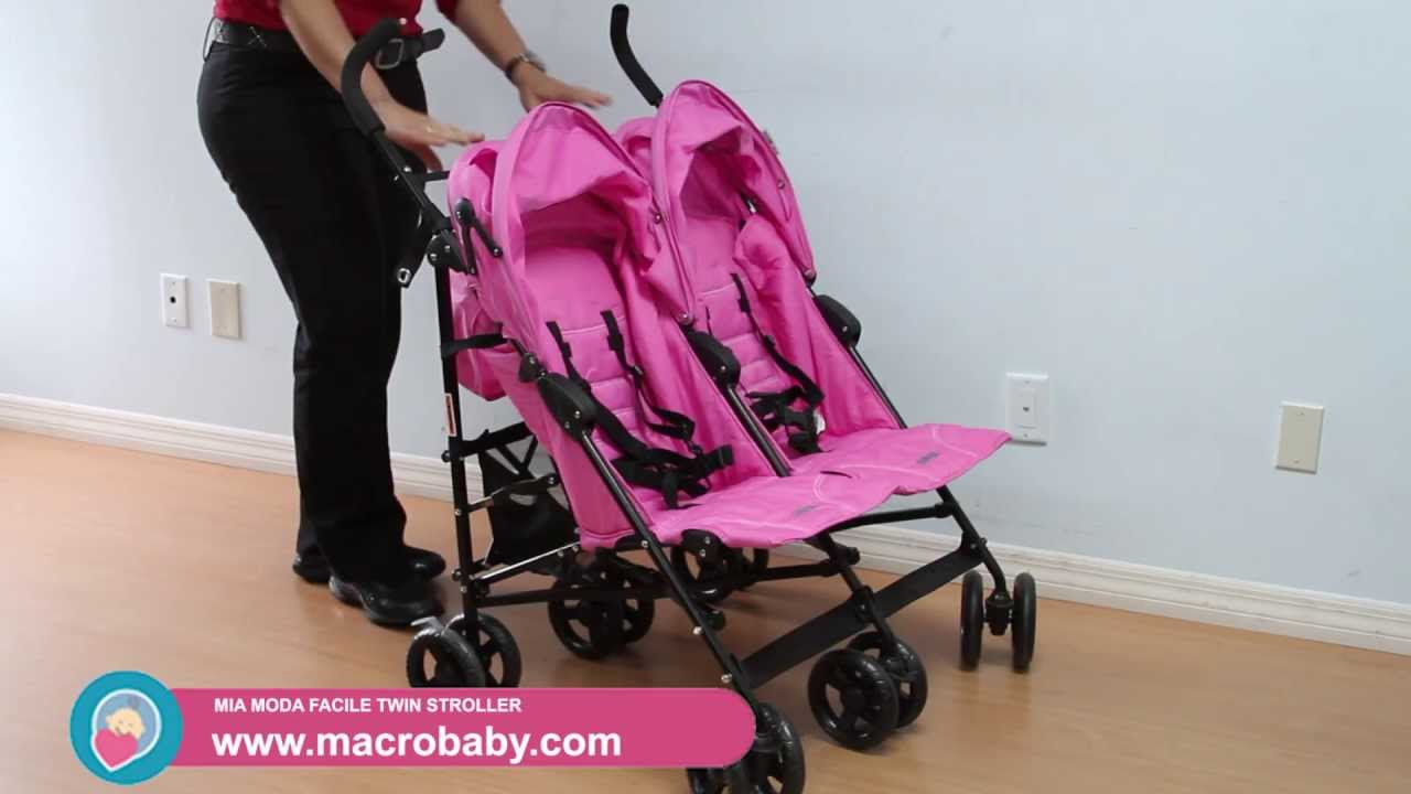 MacroBaby - Mia Moda Facile Twin Stroller - YouTube