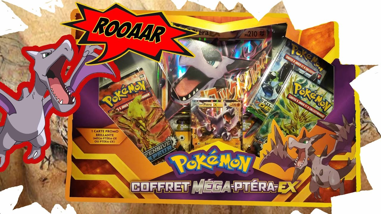 Ouverture coffret mega ptera ex je me fais troller youtube - Pokemon ptera ...