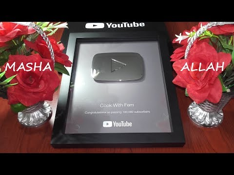 Youtube Silver Play Button - I am Really Thankful To My Beautiful Subscribers - Love U All - Fehmima