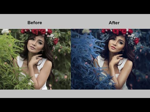Fantasy Blue Mood Color Effect Photo Retouching Photoshop Tutorial
