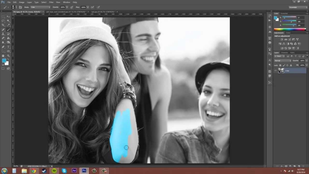 Photoshop cs6 tutorial 91 grayscale color mode