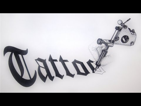 Татуировка Надпись.Готический шрифт.