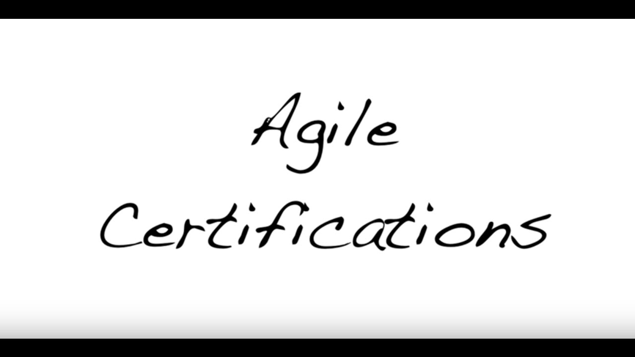 Agile Certifications Youtube