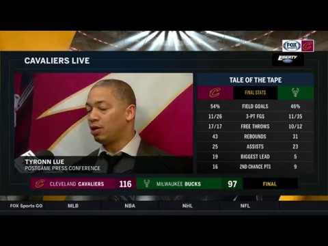 Tyronn Lue postgame on LeBron James's extended minutes, Derrick Rose's injury | Cavs Live
