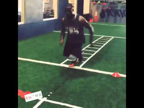 Andrew Hawkins  has a phenomenal footwork!
