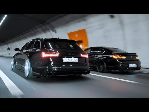 Through The Late Night | Audi RS6 X BMW M6 | 4K