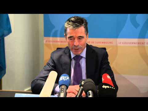 NATO Secretary General with Prime Minister of Luxembourg - Joint press point