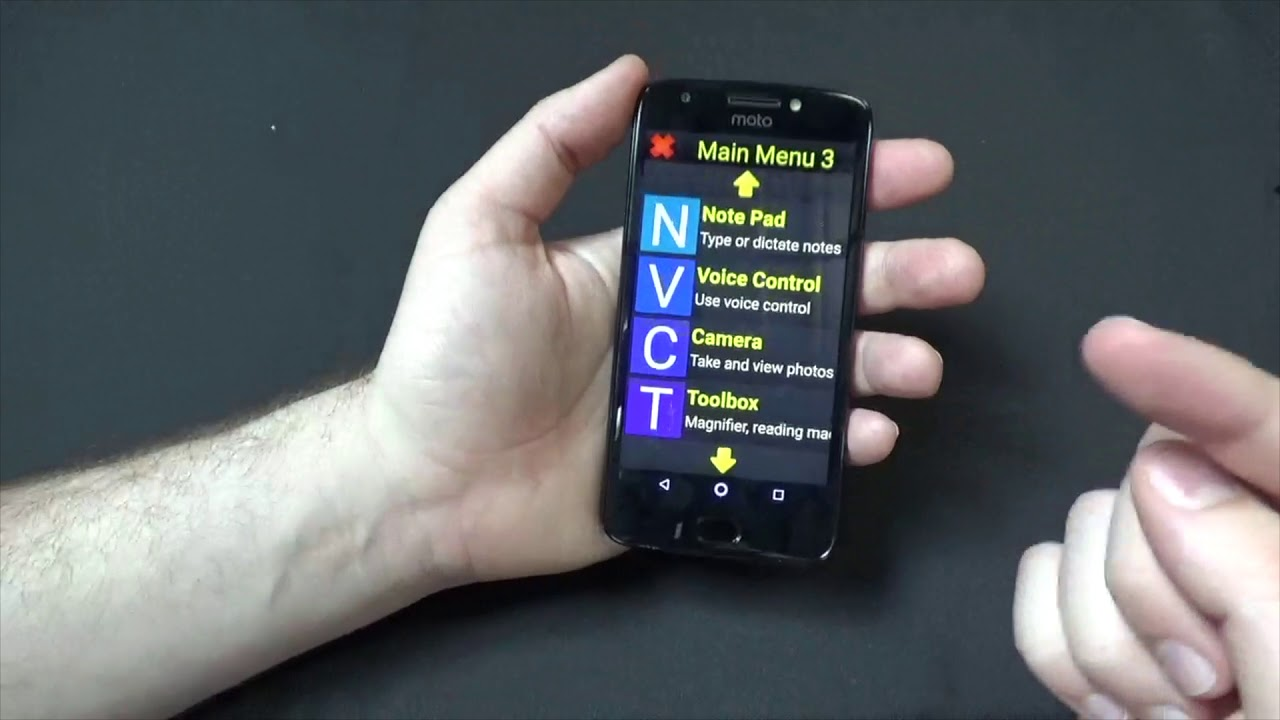 Smartphone for Visually Impaired - Large Print and Simplified Interface