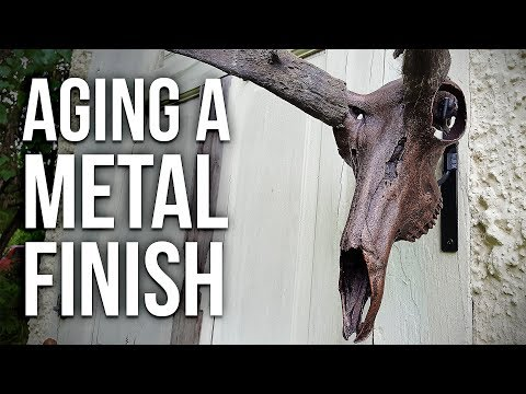 How To Age a Metal Finish on a SKULL!