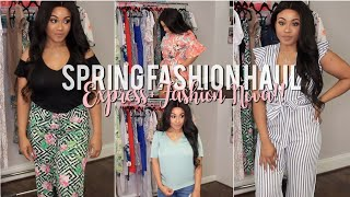 spring fashion try on haul express and fashion nova