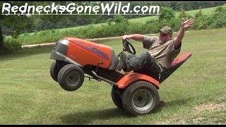 Redneck Lawn Mower Wheelies