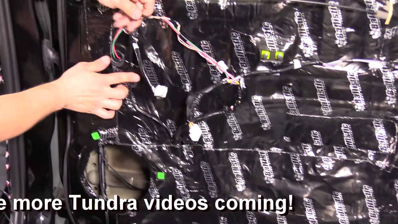 How To Run New Speaker Wire In Your Toyota Tundra Youtube 2014 Sequoia Wiring Diagram