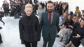 Tilda Swinton, Sandro Kopp, Lou Doillon and more at Haider Ackermann Fashion Show