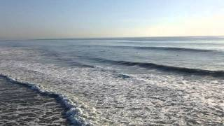 Oceanside California waves showing riptide or rip current 00023