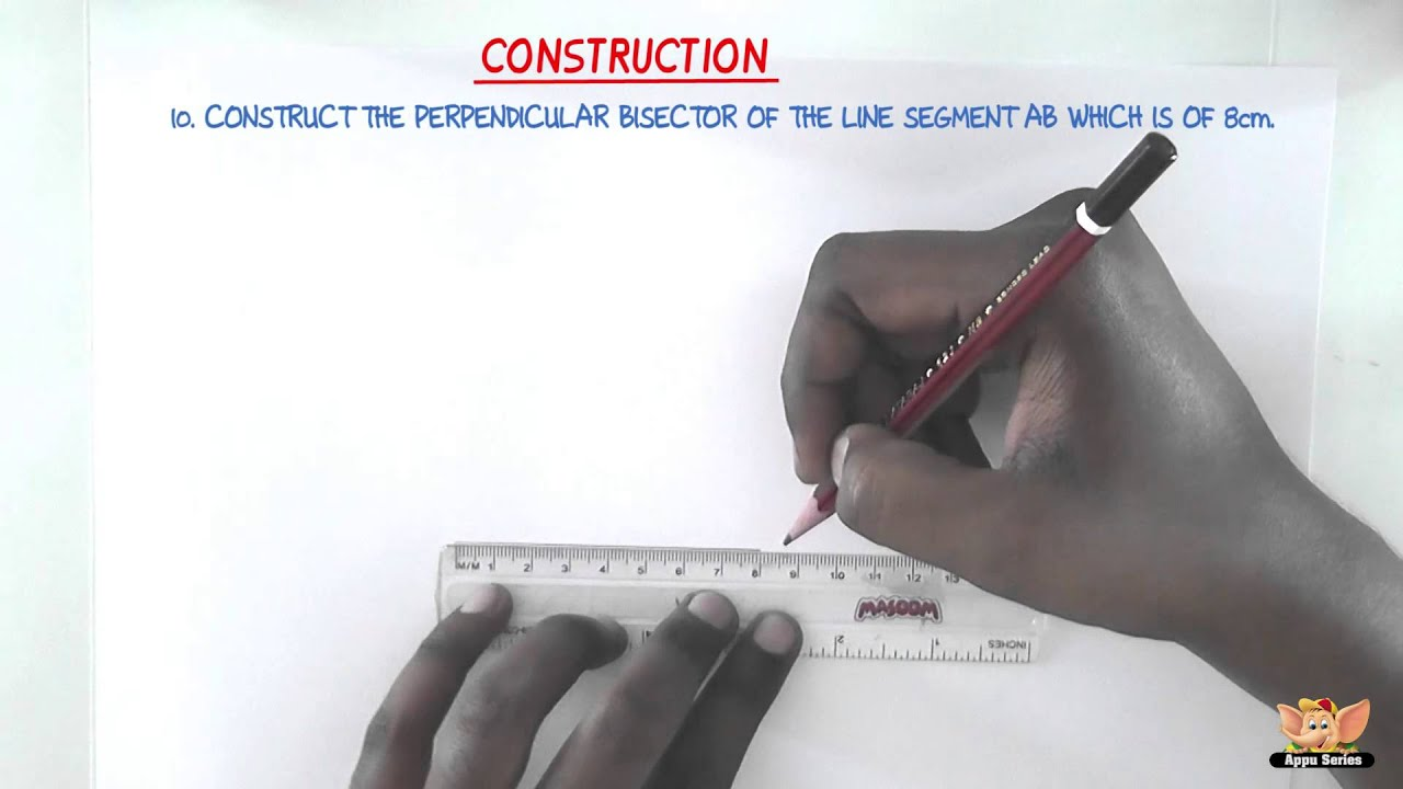 How To Construct Perpendicular Bisector Of A Line Segment Youtube
