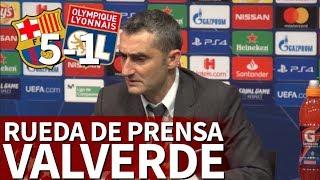 Barcelona 5 - O.Lyon 1| Rueda de prensa de Valverde | Diario AS