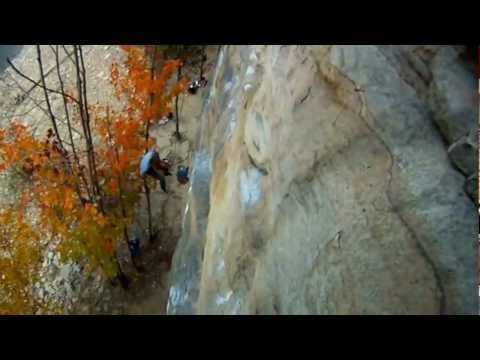 Rock Climbing at Summersville Lake, New River Gorge, WV