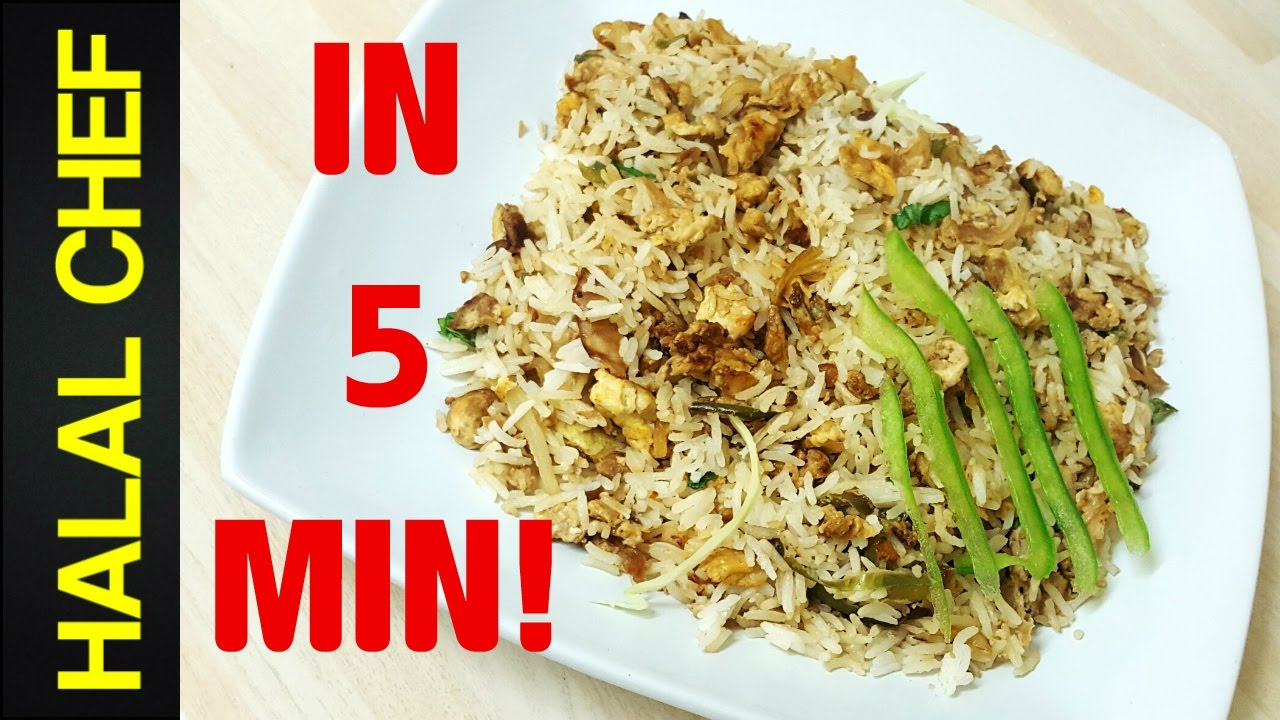 How to make egg fried rice in 5 minutes quick and easy fried rice how to make egg fried rice in 5 minutes quick and easy fried rice halal chef ccuart Choice Image