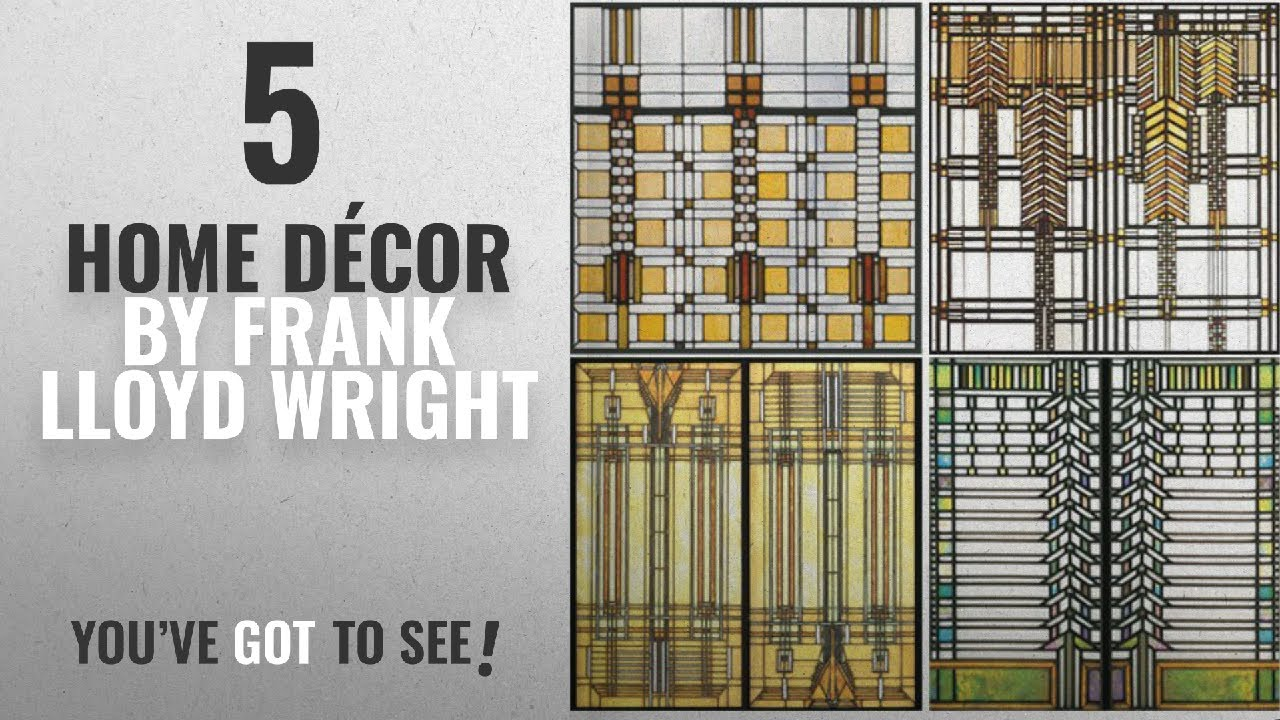 Top 10 Home Décor By Frank Lloyd Wright [ Winter 2018 ...