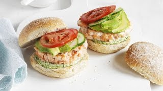 3-Ingredient Easy Salmon Burger Recipe