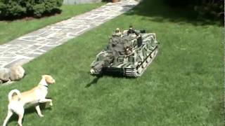 1/6 Scale Panzer Tank. I guess the dog doesn't like it, since he tried to eat it.