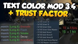 CS:GO - Text Color Mod 3.4 & Trust Factor Blog Update