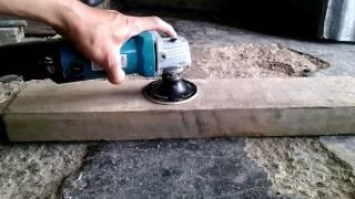 Cara Memasang Bantalan Amplas dan Mengamplas Papan Kayu Menggunakan Mesin Gerinda