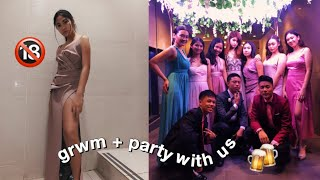 VLOG: GRWM + *formal* Party With Us
