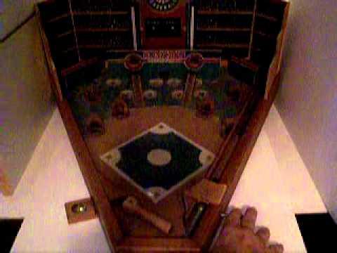Vintage Old Century Baseball Tabletop Baseball Pinball Game