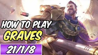 HOW TO PLAY GRAVES 1v9 CARRY | Build & Runes | PENTAKILL | Diamond Commentary | League of Legends
