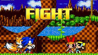 MUGEN BATTLE SONIC AND TAILS VS BLOSSOM AND BUBBLES (FUNNY ENDING)
