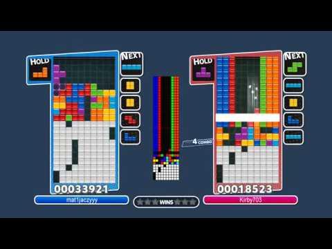[Puyo Puyo Tetris] Infinite Center 4-Wide (Row Duplication / Infinite Column In Tetris Glitch)