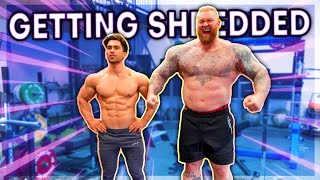 Bodybuilder vs Strongman! Arms and abs! ft. Marino \u0026 The Mountain!