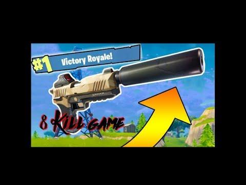 Fortnite NEW silenced pistol win