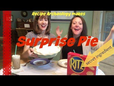 Surprise Pie - Grandma recipe with a secret ingredient...Ritz crackers!