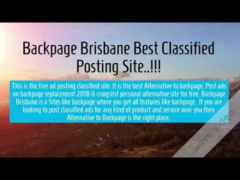 Backpage classifieds brisbane