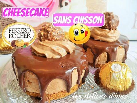 🍰🍫recette-cheesecake-sans-cuisson-ferrero-rocher-nutella