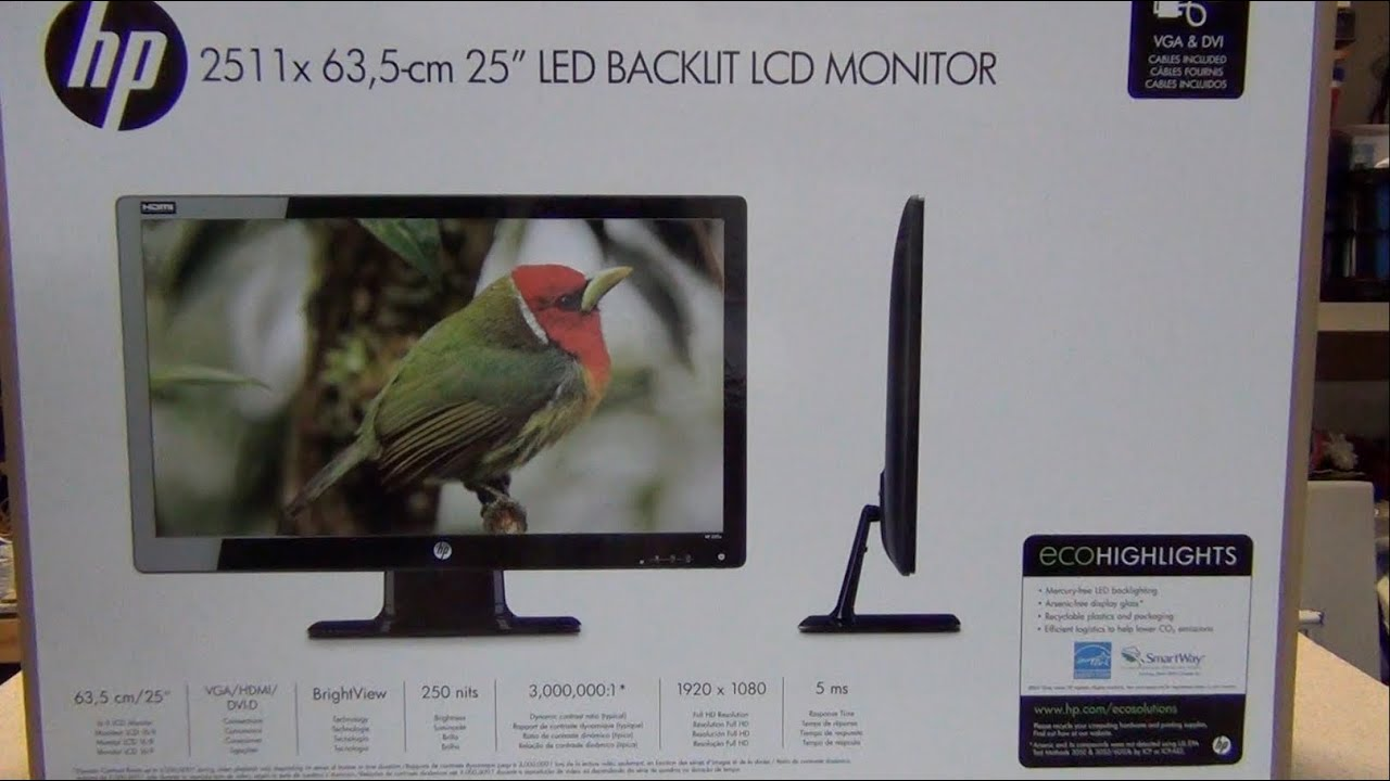 hp 2511x 25 inch led monitor unboxing with a surprise youtube rh youtube com HP 2511X Monitor HP 2511X Driver