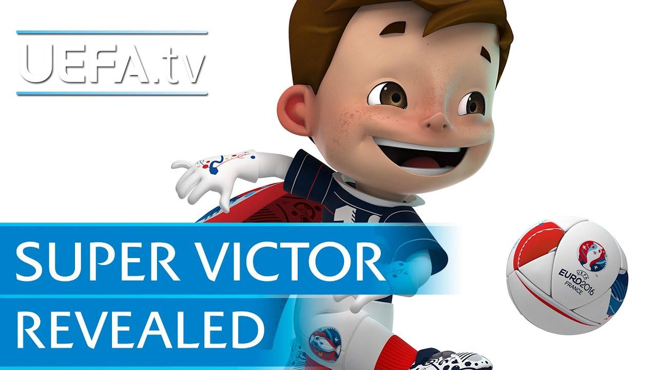 Maskot Super Victor Euro 2015 Prancis