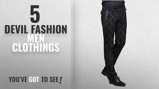 Top 10 Devil Fashion Men Clothings [ Winter 2018 ]: Devil Fashion Punk Men Cotton Dress Pants