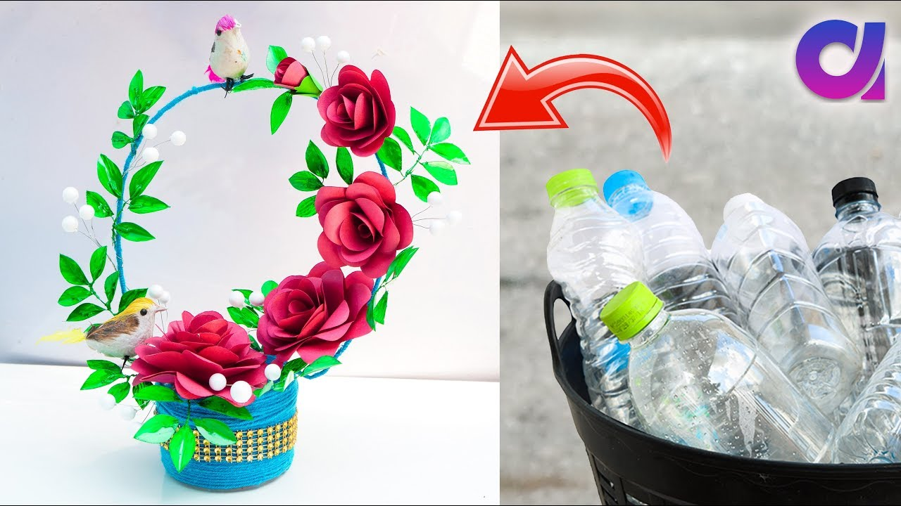 Best Out Of Waste Plastic Bottle Craft Idea Plastic Bottle Basket
