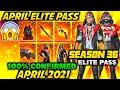 April Elite Pass Free Fire 2021 | Season 35 ELITE PASS Full Video | April Elite pass Free fire