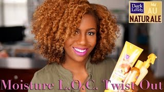 Dark and Lovely Au Naturale Moisture L.O.C. Twist Out