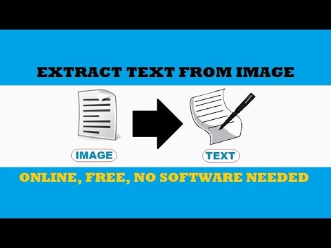 How to Copy Text from Image File Online for FREE | Convert JPG into Text |  No Software Required