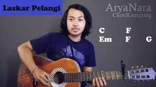 Chord Gampang (Laskar Pelangi - NIDJI) by Arya Nara (Tutorial Gitar) Untuk Pemula