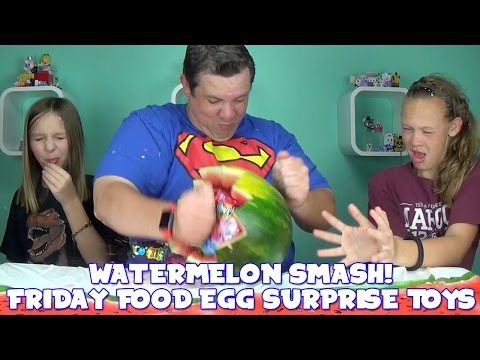 Watermelon Smash Friday Food Egg with Surprise Toys and Blind Bags