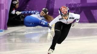 Choi Minjeong, Korean female athlete at short track  wins a gold medal at Winter olympics
