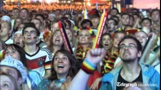 Brazil fans make a quick exit as Germany celebrates