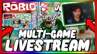 🔴[ROBLOX LIVE]🔴 | Multi Game Stream | Come and Request a Game! | FACECAM | JOIN US!