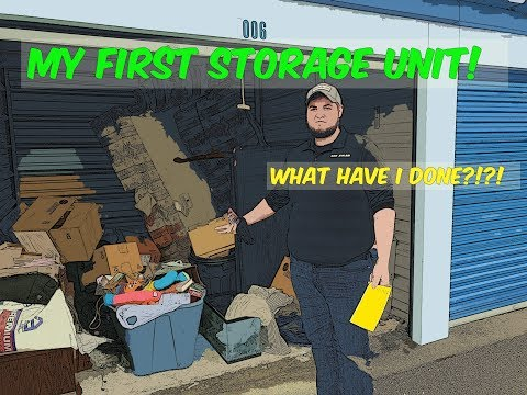 My first Storage Unit Auction! ( i bought one!!!)